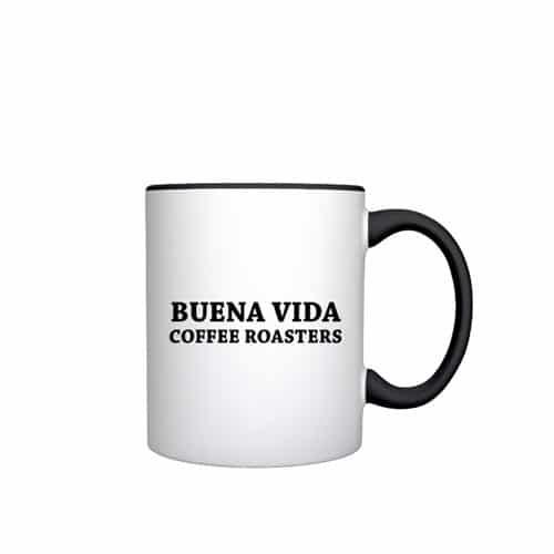 Buena Vida Kaffeetasse Schriftzug